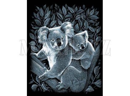 Creatoys Reeves Škrábací obrázek stříbrný 20x25cm - Koaly