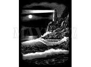 Creatoys Reeves Škrábací obrázek stříbrný 20x25cm - Maják
