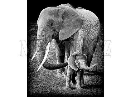 Creatoys Reeves Škrábací obrázek stříbrný 20x25cm - Slon