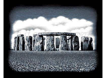 Creatoys Reeves Škrábací obrázek stříbrný 20x25cm - Stone Circles