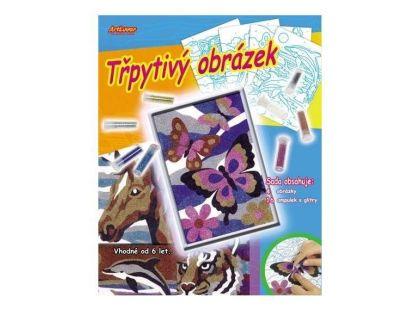Creatoys Třpytivý obrázek 4 ks v krabici