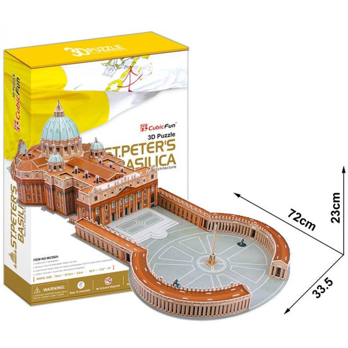 CubicFun 3D Bazilika Sv.Petra 144 dílků