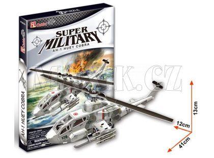 CubicFun 3D Vrtulník AH1 67 dílků