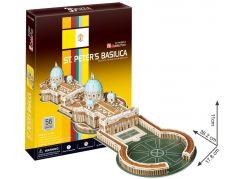 CubicFun Puzzle 3D Bazilika sv. Petra 56 dílků