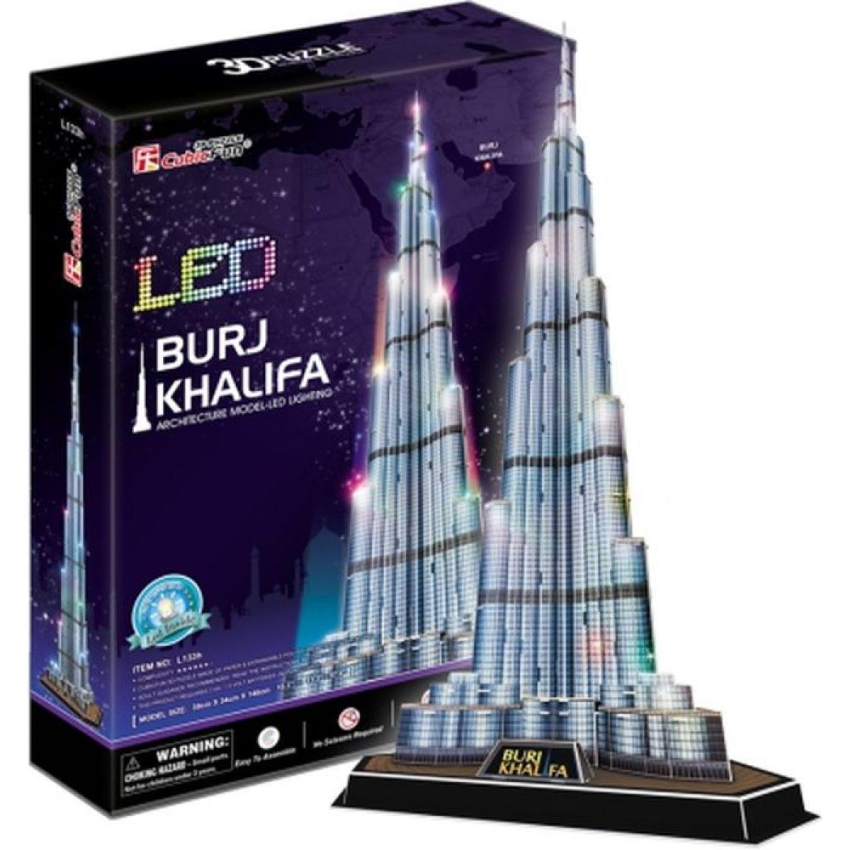 CubicFun Puzzle 3D Burj Khalifa LED 136 dílků