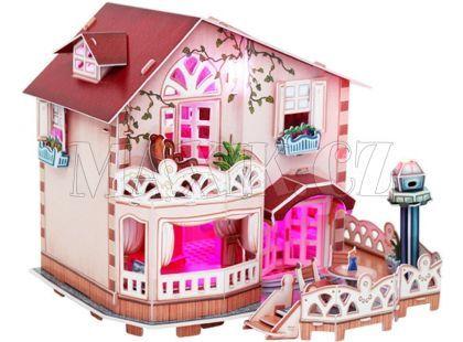 CubicFun Puzzle 3D Chatka pro panenky Led 114 dílků