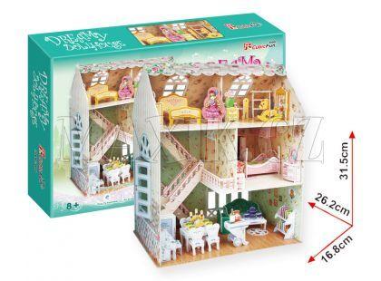 CubicFun Puzzle 3D Domek SNŮ pro panenky 160 dílků