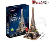 CubicFun Puzzle 3D Eiffelova věž LED 82 dílků
