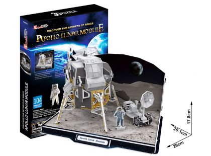 CubicFun Puzzle 3D Lunární modul Apollo 104 dílků