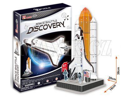 CubicFun Puzzle 3D Raketa Discovery 87 dílků