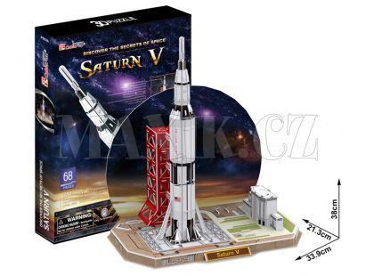 CubicFun Puzzle 3D Raketa Saturn V 68 dílků