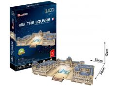 CubicFun Puzzle 3D The Louvre LED 137 dílků