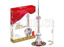 CubicFun Puzzle 3D TV věž Oriental Pearl 86 dílků