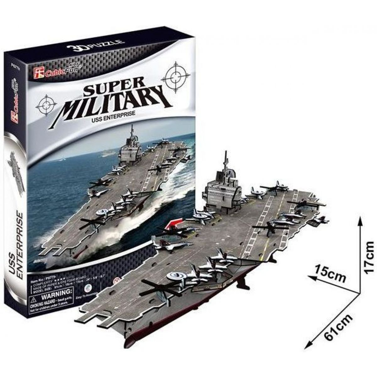 CubicFun Puzzle 3D USS Enterprise 121 dílků