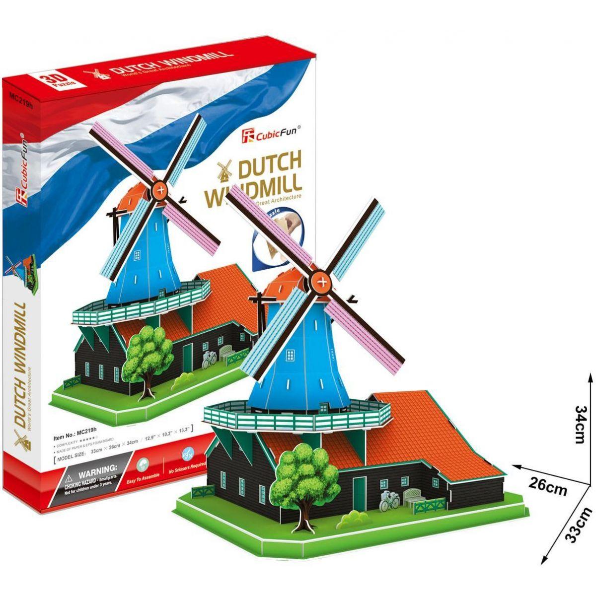 CubicFun Puzzle 3D Větrný mlýn 71 dílků