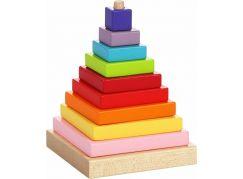 CUBIKA 13357 Barevná pyramida dřevěná skládačka