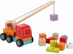 CUBIKA 13982 Autojeřáb s magnetem dřevěná skládačka