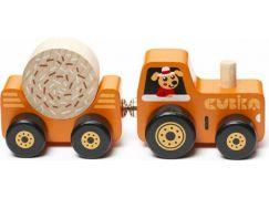 CUBIKA 15351 Traktor s vlekem dřevěná skládačka s magnetem