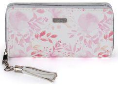 Dámská peněženka velká Pink flowers