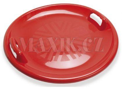 Dantoy Zábavný talíř na sníh s držadly - průměr 63 cm - Červená