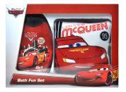 Dárková sada Cars sprchový gel 2v1 300lml s žínkou McQueen