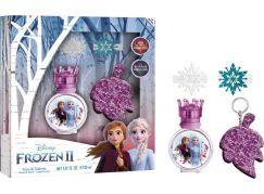 Dárková sada Frozen EDT 30 ml, klíčenka, vlasové doplňky a samolepky