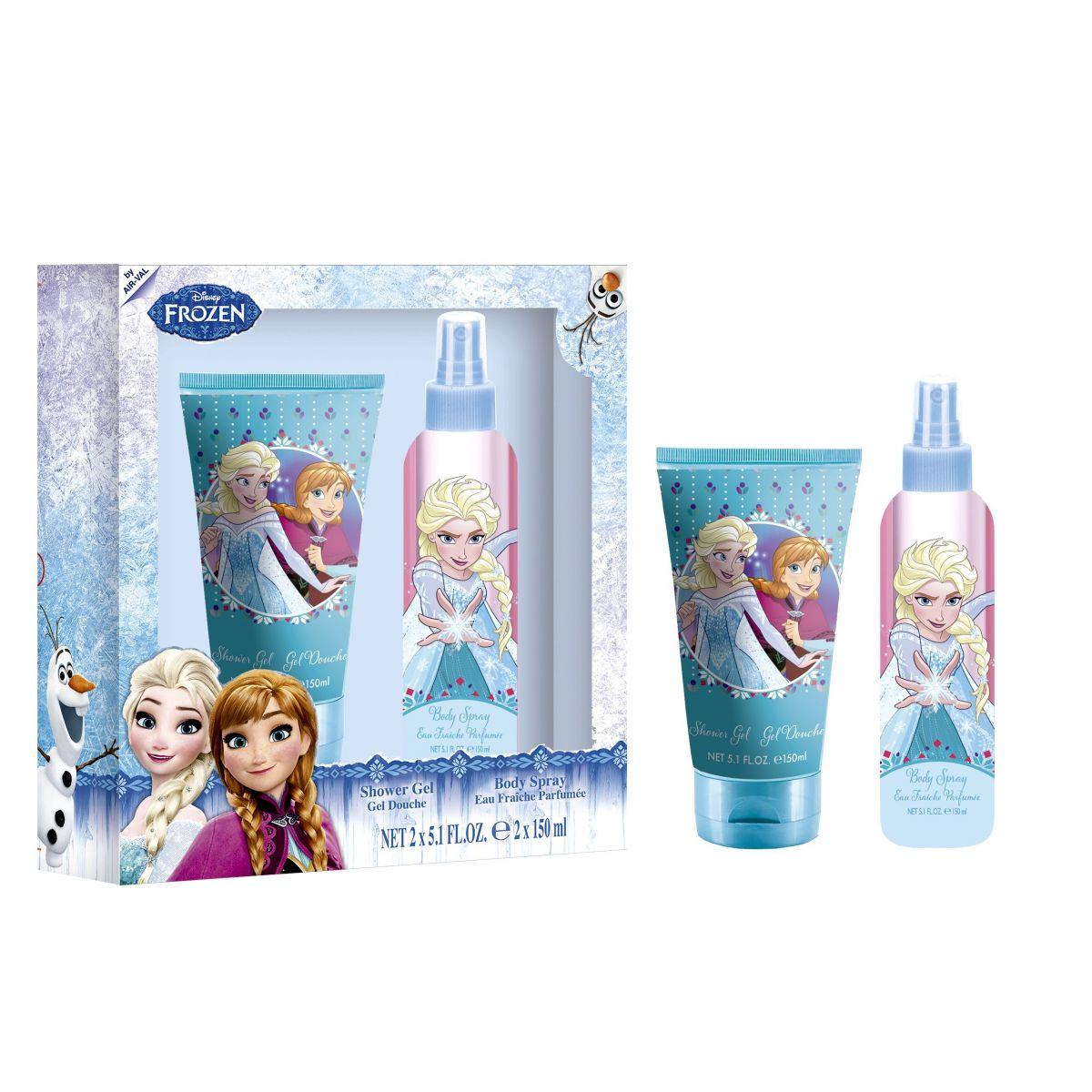 Dárková sada Frozen Tělový sprej se sprchovým gelem 2x 150 ml