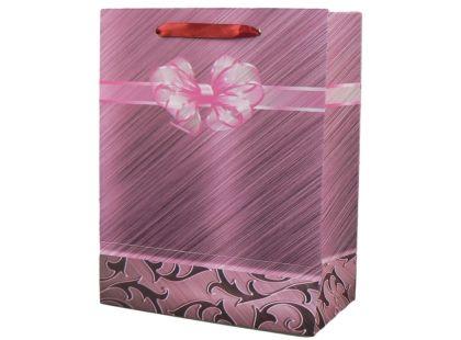 Dárková taška mašle malá - Růžová