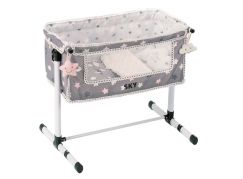 DeCueavas Novorozenecká postýlka pro panenky s doplňky SKY
