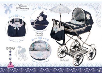 DeCueavas Skládací kočárek pro panenky s deštníkem Clasic Romantic 2018-V