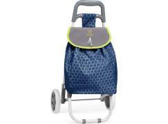 DeCuevas 52089 Skládací cestovní taška na kolečkách 2021 modrá