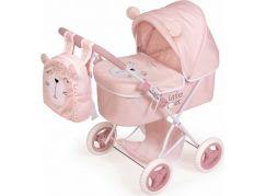 DeCuevas 85039 Skládací kočárek pro panenky s batůžkem Little Pet 2020 60 cm