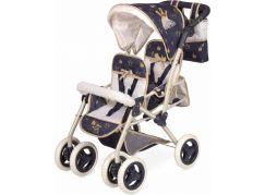 DeCuevas 90332 Skládací kočárek pro dvojčata panenky s taškou Classic Gold 2020 - 72 cm