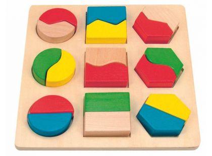 Destička s geometrickými tvary