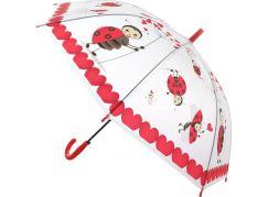 Deštník zvířátka průhledný vystřelovací berušky