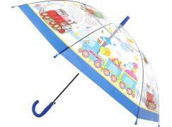 Deštník dopravní prostředky vystřelovací tmavě modrý