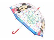 Deštník Mickey průhledný manuální