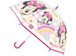 Deštník Minnie průhledný manuální 36477