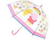 Deštník Prasátko Peppa průhledný manuální
