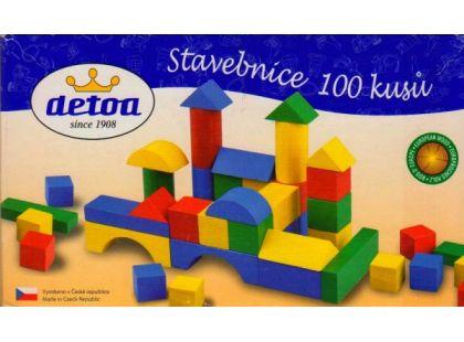 Detoa Dřevěná stavebnice 100ks