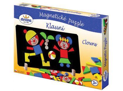Detoa Magnetické puzzle Klauni