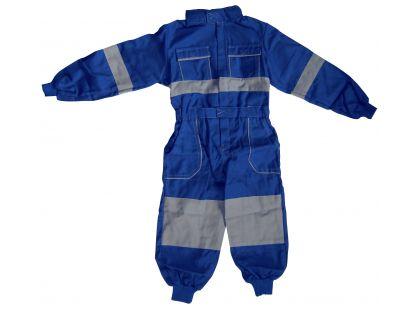 Dětská montérková kombinéza vel. 130 - Modrá