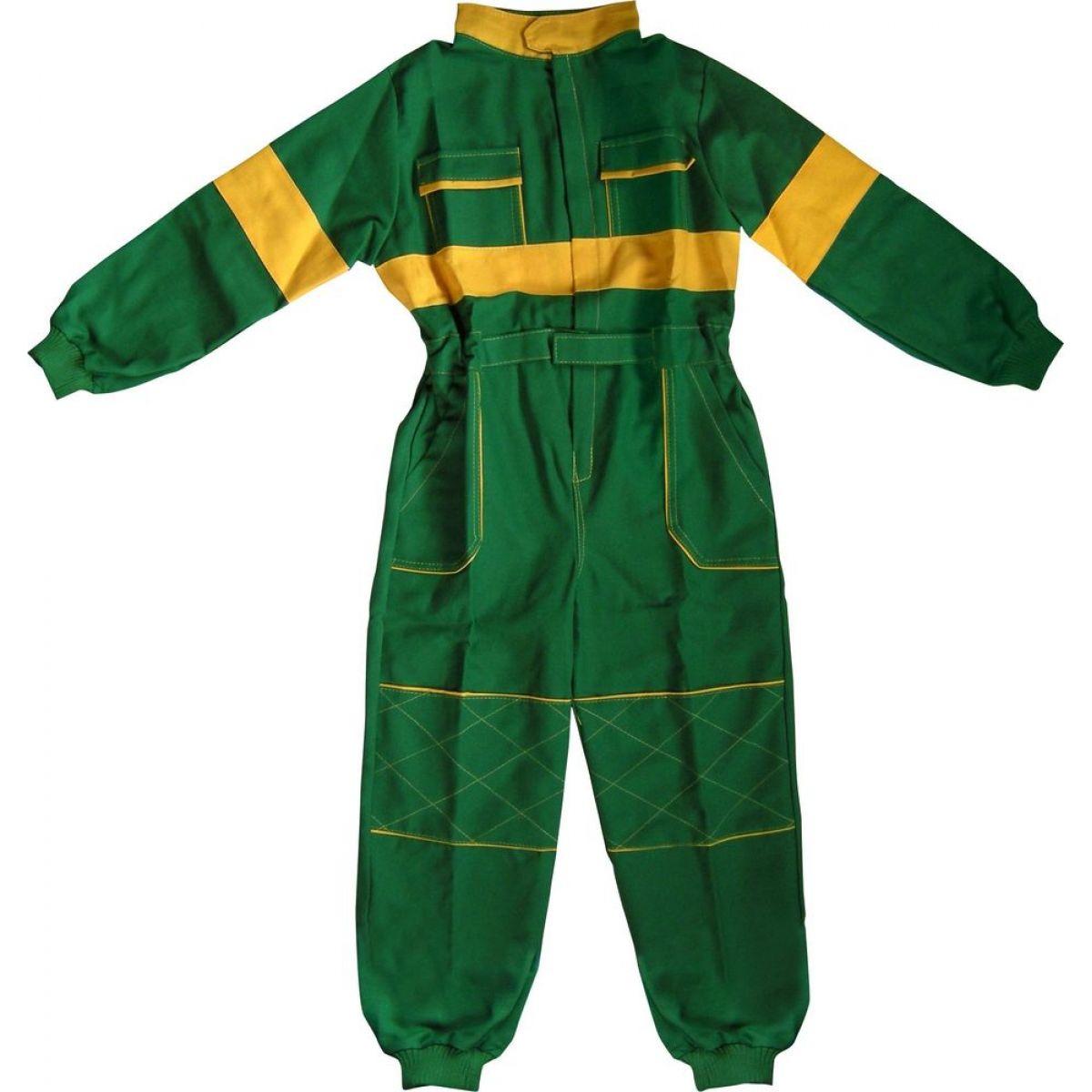 Dětská montérková kombinéza vel. 130 - Zelená