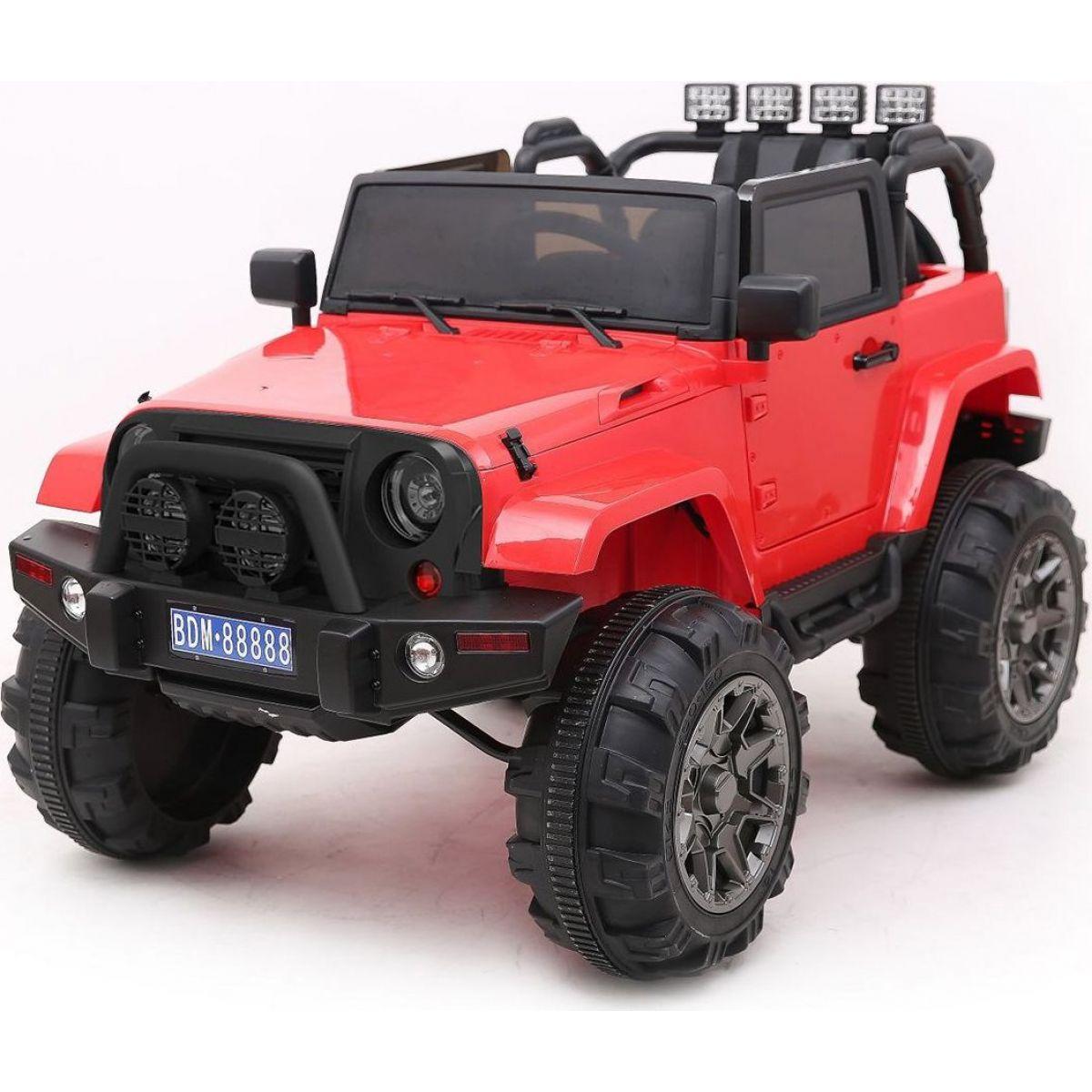Dětské elektrické auto 2,4ghz magnetické dveře MP3 přehrávač s rádiem červené