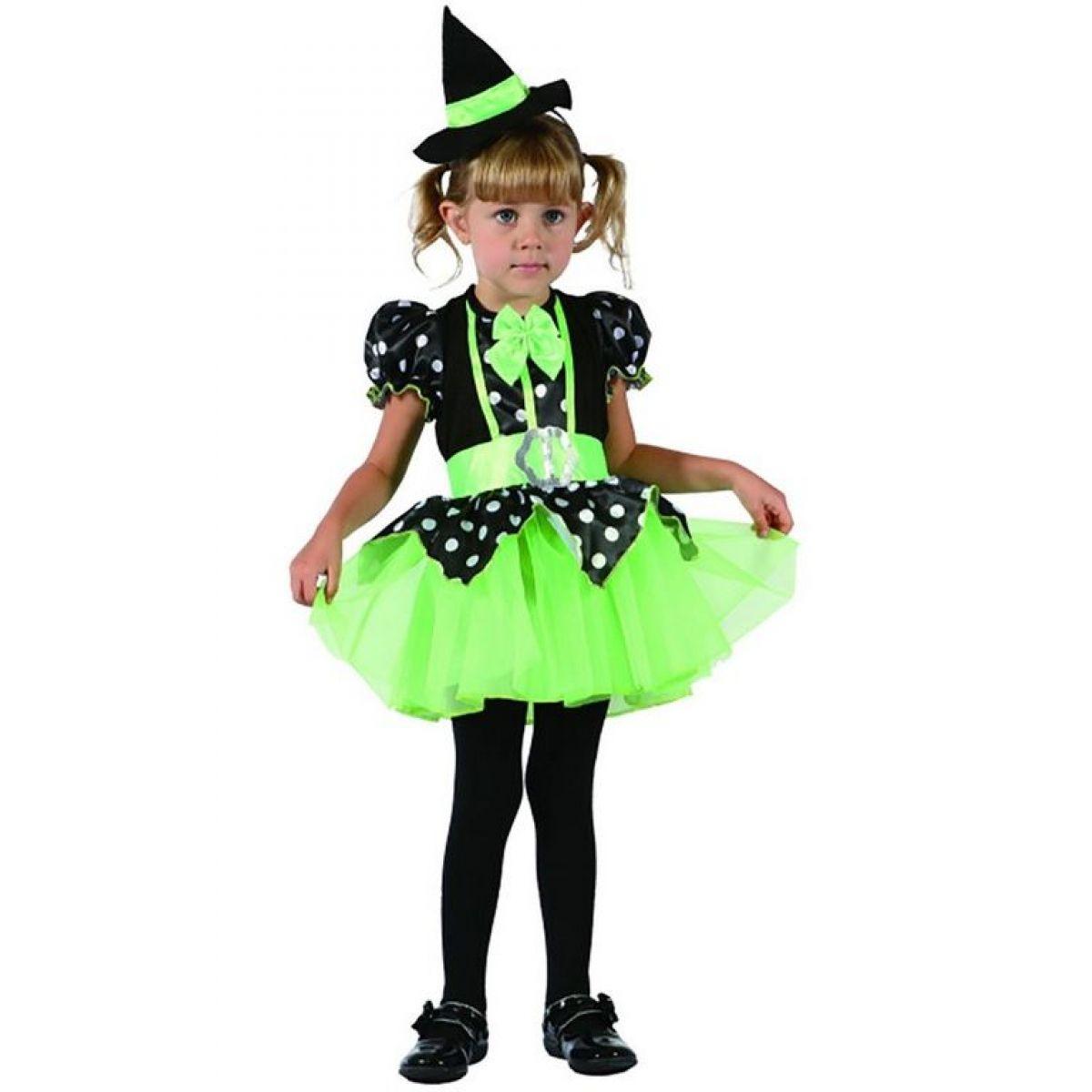 Dětské šaty na karneval čarodějka 92 - 104 cm