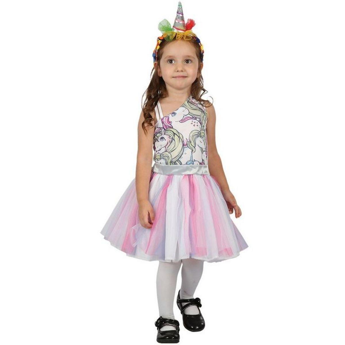 Dětské šaty na karneval jednorožec 92 - 104 cm