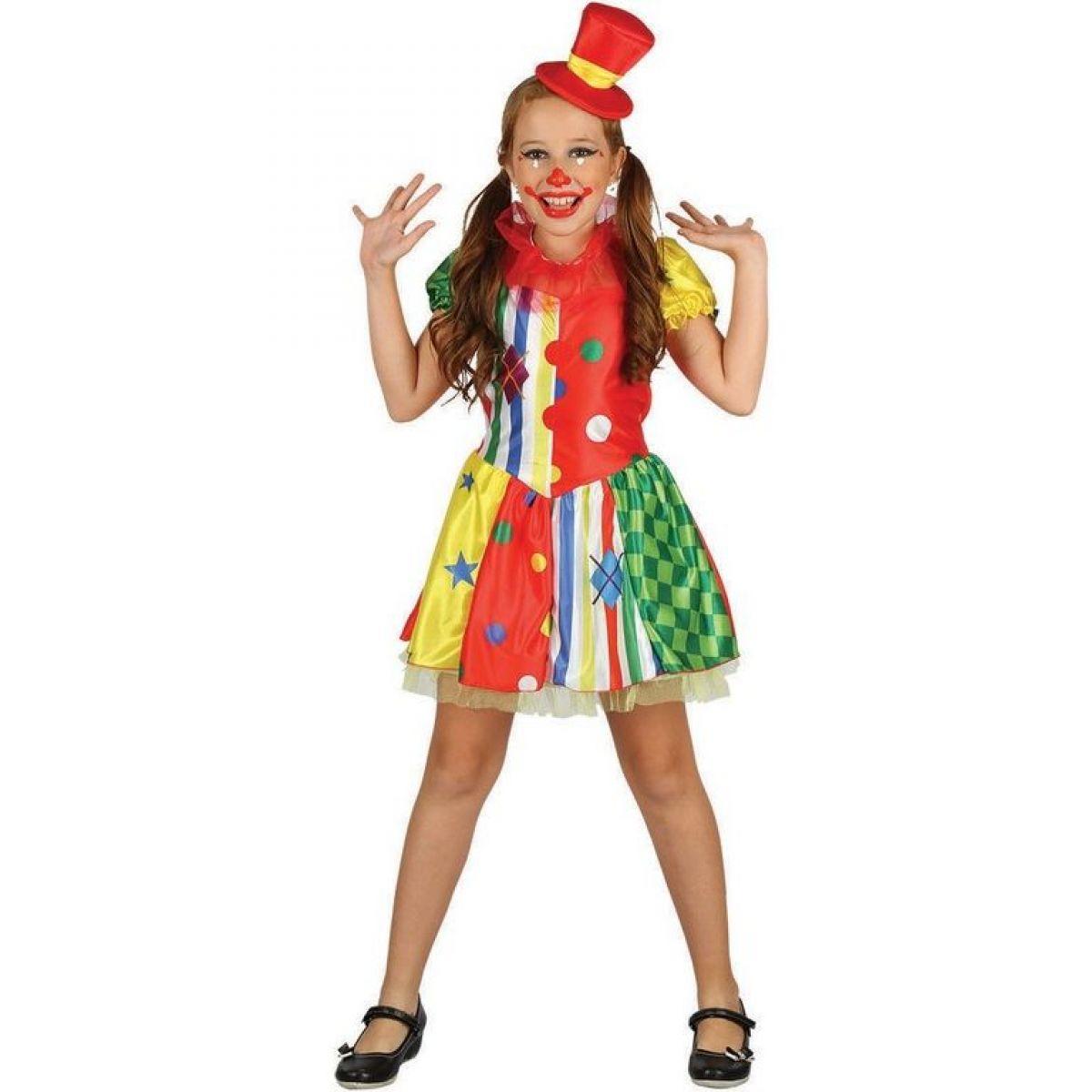 Dětské šaty na karneval klaun 130 - 140 cm