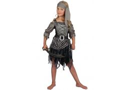 Dětské šaty na karneval pirátská dívka 120-130 cm