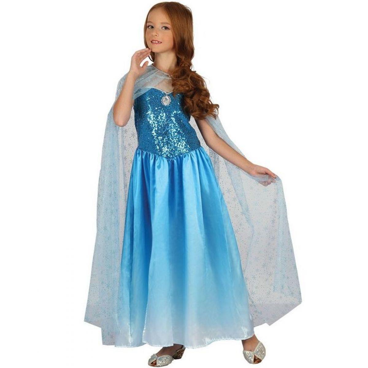 Dětské šaty na karneval sněhová královna 120 - 130 cm