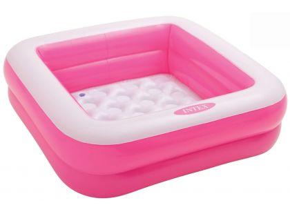 Dětský bazének čtverec Intex 57100 - Růžová